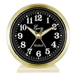 Equity by La Crosse 12020 Key-Wound Alarm Clock, 4, White