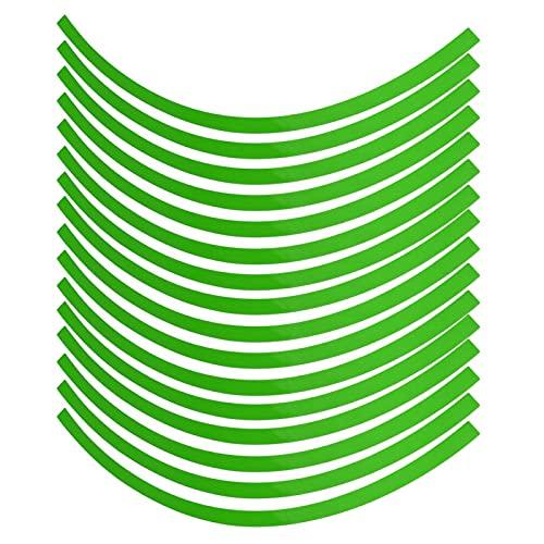 Dioche - Juego de pegatinas para ruedas, vinilo verde, adhesivo reflectante para coche, 6 colores