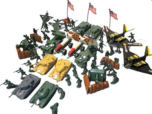 150pc Army Men Toy Soldiers Play Set Missiles Jets Tanks B2 Bomber by Special Forces