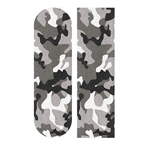 MNSRUU Skateboard Griptape Grau Schwarz Camouflage Longboards Griptape Schleifpapier für Rollerboard