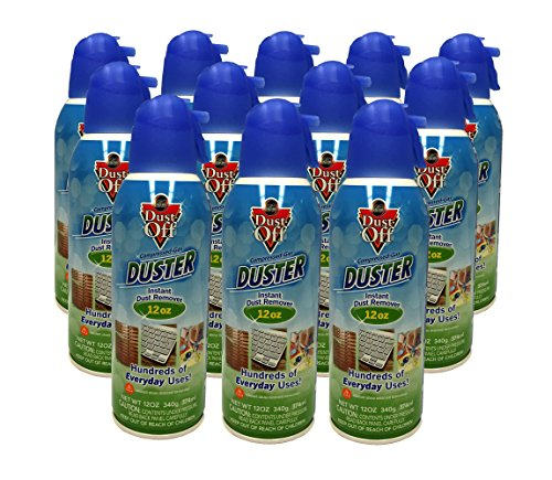 New 12 Pack Dust Off Compressed Gas Duster 12 oz