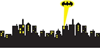 Cool Removable Wall Sticker Gotham City Skyline Batman Decal Removable Wall Sticker Home Decor Art