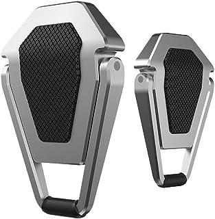 ノートパソコン スタンド macbook PCスタンド アルミ合金製 耐久性 貼り付け型 折り畳み式 冷却 滑り止め 軽量(約50g) 持ち運びに便利