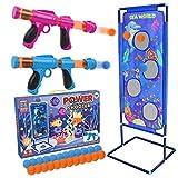 STOTOY Shooting Game Set, Gioco di Tiro per Bambini con 2 Palle di Schiuma Popper Air Toy Gun e Bersaglio di Tiro in Piedi e 24 Palle di Schiuma, 5 6 7 8 9 10+ Anni Ragazzi e Ragazze