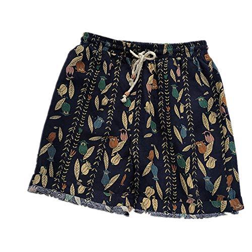 Uomini Cotone Lino Beach Wear Shorts Estate Classic Fit Casual Hawaiian Pantaloni Corti per Uomo Pantaloni Plus Size 5XL 2 XXL