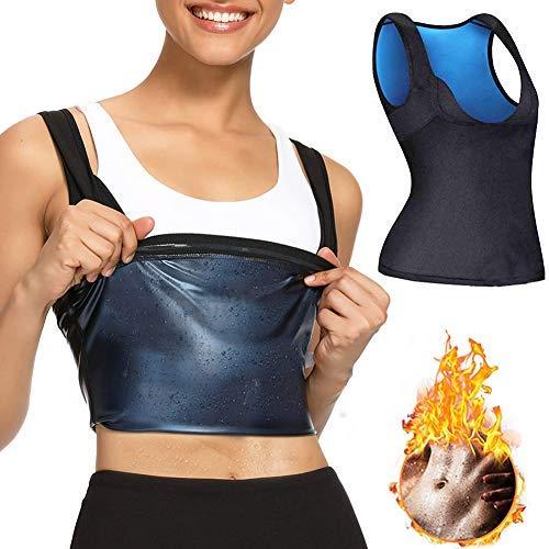 Camiseta de tirantes adelgazante para mujer para pérdida de peso, sauna, sudor para entrenamiento corporal, chaleco de sudor sin neopreno, traje adelgazante para sauna