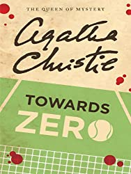 Paperback copy of Towards Zero - illustration of tennis court