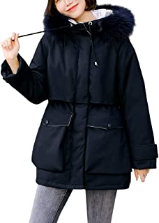 Womens Down Cotton Outwear Winter Print Long Hooded Coat Quilted Jacket
