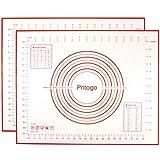 Pritogo - 2 alfombrillas de silicona con tejido de 50 x 40 cm, base para hornear sin BPA, de -40 °C...