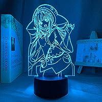 Tatapai アニメライトアニメ3Dライトゲームキャラクター子供用ナイトライトLEDの色を変えるUSBバッテリー駆動のUSBライトプレイルームユニークなギフト