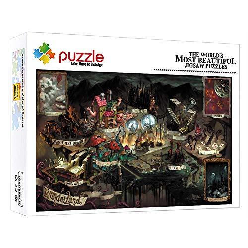 FFGHH Puzzle Madera Puzzle 1000 Piezas Infantil Puzzle Bebe Rompecabezas para Niños para Adultos Niños Amigo Castillo En El Cielo 75Cm X 50Cm