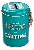 Boxer Gifts Farting Fine Money Tin | Lustiges Geschenk für Ehemann, Vater, Fre& | Tolles Wichteln für Ihn, Edelstahl, Mehrfarbig, 14x9x8cm