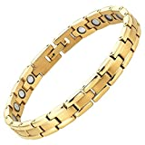 Womens Titanium Magnetic Therapy Bracelet for...