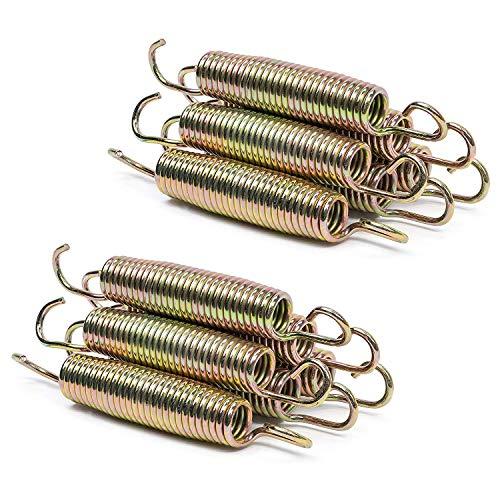 aoory 6-teilige Trampolin-Ersatzfedern Länge 145 mm für Durchmesser 240 244 305 366 bis 427 cm Ersatzfeder