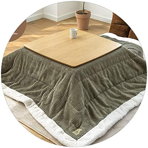 LAZNG Kotatsu Table with Heater and Blanket Kotatsu Winter Indoor Stove Table Living Room Tatami KOT Stove Table Best Gift for Elders Four-Piece Stove Table Set Winter Gifts