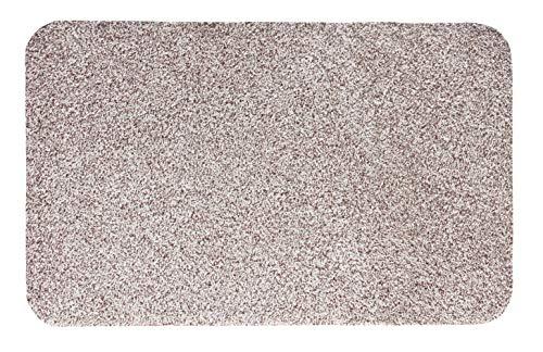 andiamo Fußmatte Samson, waschbare & resistente Türmatte aus 100% Baumwolle, Größe:100 x 150 cm, Farbe:Hellbeige