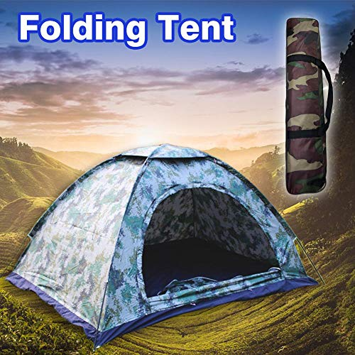 heresell camping tente 2 places Rain Proof Outdoor Camping Tent Ultraviolet Protection Ventilation Window Mesh Easy Setup for Hiking Travel 200x145x110CM