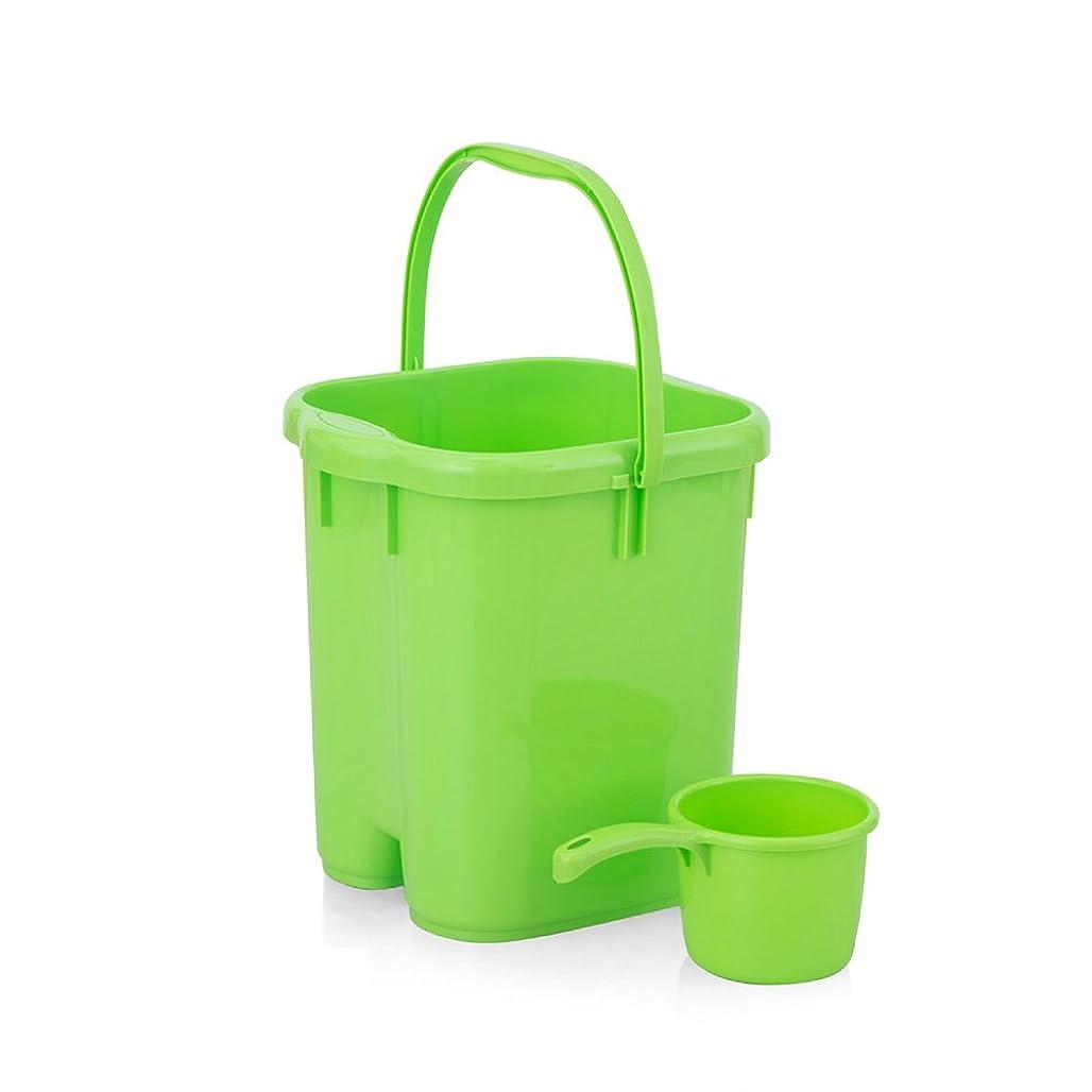 39センチメートルポータブル27 * 28 * 38センチメートルと専用バスルームホーム足湯足バレル流域の成人した子供や高齢者をハイドロプレーニングマッサージプラスチックバケツ+で利用できる足浴槽の足浴をしている高めます ## (色 : Green)
