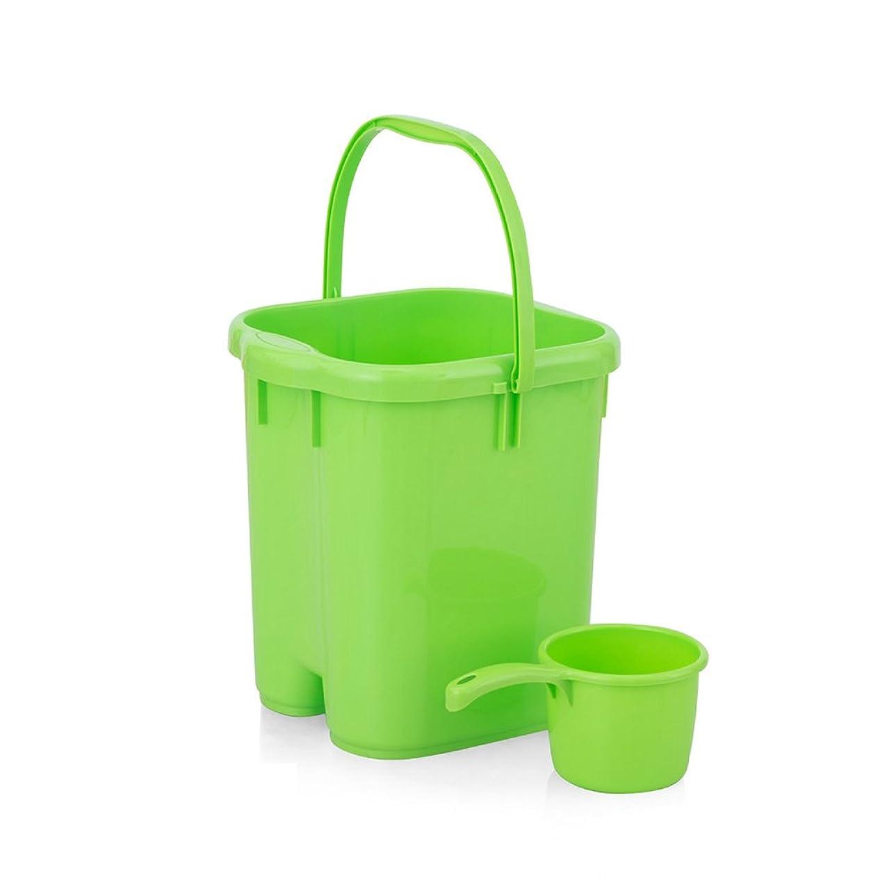変装した水分悲劇39センチメートルポータブル27 * 28 * 38センチメートルと専用バスルームホーム足湯足バレル流域の成人した子供や高齢者をハイドロプレーニングマッサージプラスチックバケツ+で利用できる足浴槽の足浴をしている高めます ## (色 : Green)
