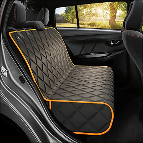 Active Pets Bench Dog Car Seat Cover for Back Seat, Waterproof Dog Seat Covers for Cars, Durable Scratch Proof Nonslip, Protector for Pet Fur & Mud,...