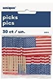 Cupcake Toppers - US-amerikanisches Flaggendesign - 30er Packung