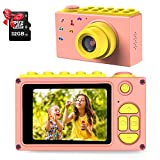 ShinePick Cámara de Fotos para Niños,Mini Video Cámara Zoom Digital de 4X / 8MP / 32GB / 2' TFT LCD de la Pantalla con Tarjeta de Memoria (Rosa)