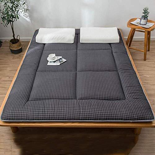 Traspirante Morbido Materasso Portatile Giapponese Futon Tatami Mat per Dormitorio Soggiorno,Pieghevole Materasso Tatami Nero Queen:150x200cm