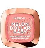 L'Oréal Paris Wake Up & Glow Melon Dollar Baby, Colorete, Tono Rosado