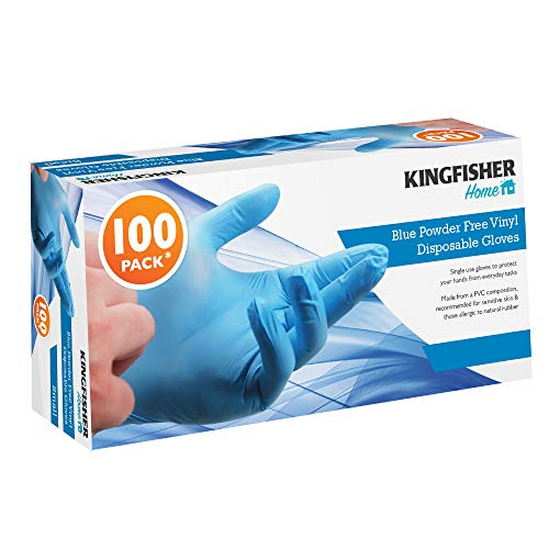 Kingfisher KGVB2 Dispoable, Guanti, Blu, medium