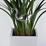 LWAN3 - Globi per irrigazione delle piante, in vetro trasparente, automatico per piante, dispositivo di irrigazione a goccia per interni, a forma di cigno