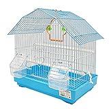 BPS Jaula para Pájaro Pajarera Periquito Canarios con Comedero Bebedero Saltado Columpio para Descanso Color al Azar 34x23.5x36 cm BPS-1273
