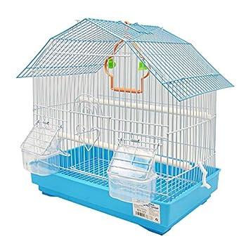 BPS BPS-1273 Cage pour oiseau oiseau journalier avec mangeoire boire salée pour déjeuner Couleur au hasard 34 x 23,5 x 36 cm