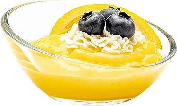 "3 oz Glass Incline Mini Dessert Bowl - 3 3/4"" x 3 3/4"" x 1 3/4"" - 6 count box - Restaurantware"