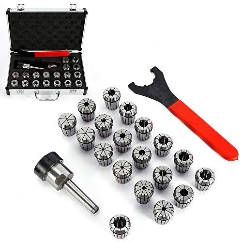 ER32 - Mandril de apriete con MT2 ER32 M10, 21 piezas ER32 - Mandril para mandril de alicates de 2 mm hasta 20 mm para máquinas de grabado o fresado CNC