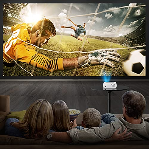 """WiFi Video Projector, Top vision 8500L Wireless Movie Projector, Native 1080P & 300"""" Bluetooth Projector, Portable LED Projectors Compatible with TV Stick, HDMI, AV, USB, PS4, Smart Phone"""