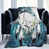 JOOCAR Mantas y mantas de franela manta para sofá/cama manta de felpa de lobo fresco manta mullida regalo para bebé niña niño papá mamá