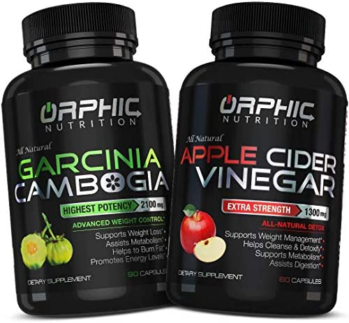 Garcinia Cambogia Extract 2100 MG Apple Cider Vinegar 1300mg 90 60 Pills Appetite Suppressant product image