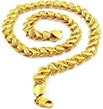 Yellow Chimes Gold-Plated Latest Fashion Stylish And Trendy Classic Designer Neck Chain for Men and Boys