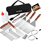 grilljoy 22PC Griddle Accessories Kit - Exclusive Griddle Tools Spatulas Set - Commercial Grade Flat Top Grill Kit - Great for griddle accessories - Perfect Teppanyaki Gift for Men And Women