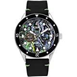 Aquacy HEI Matau Automatic Watches for Men - Cave Diver Mens Watches - Open Heart Abalone Diver's Watch - Japanese Self-Winding Mechanism & 200m Water-Resistant Diving Timepiece for Him