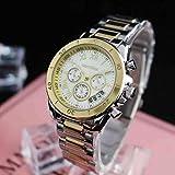 DECTN Reloj de Pulsera Nuevo Reloj de Moda Jane Retro de Tres Ojos y Seis Pines para Mujer Reloj de Cuarzo atmosférico Plateado