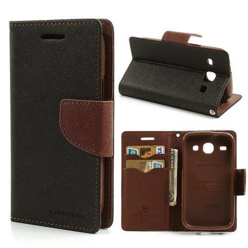 new style 3829b 4b4da CEDO Luxury Mercury Magnetic Lock Diary Wallet Style Flip Cover Case for  Samsung Galaxy J5(6) 2016 / J5-6 (2016) J510 (Black & Brown)