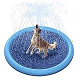 Estera de Riego para Mascotas Estera de Riego Antideslizante Juguete de Agua de PVC Exteriores Césped Almohadilla Salpicaduras Piscina Inflable para Niños