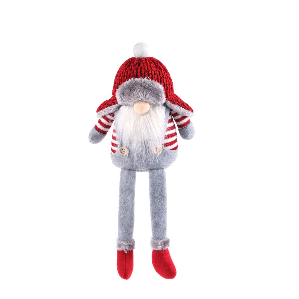 Santa Gnome Plush Toys Christmas Gnome Elf Stuffed Dwarf Doll Soft Sleeping Kid Toy for Child Adult Household Ornaments Displaying Cuddling Home Decoration A