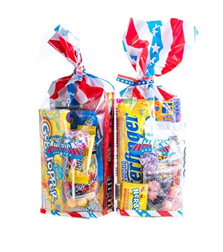 Holland Plastics Original Brand Double Trouble Schmeckt der Staaten! 2 X All American Süßigkeit-Geschenk-Taschen. 2 Taschen voller aufregender amerikanische Süßigkeit!