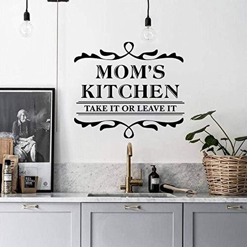 Mamás De La Cocina Tómelo O Déjelo En Casa Etiqueta De La Calcomanía Inicio Puerta De Bienvenida Familia Pared Vinilo Mirar Decoración Actual Etiqueta 57X65Cm