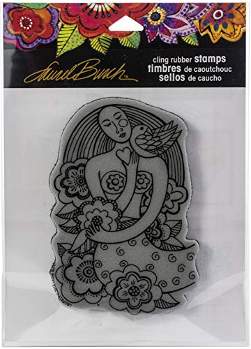 Stampendous Laurel Burch Cling Stamp-Mermaid Heart, Grey