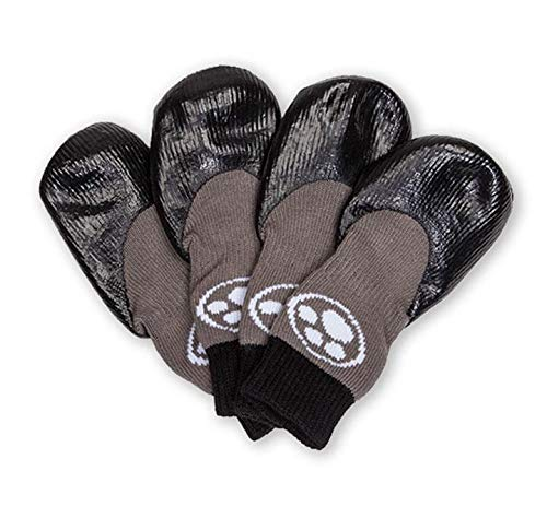 Grippers Non Slip Dog Socks | Traction Control for Indoor Wear | Dog Paw Protection | Non Skid Dog Booties Grip (XS)