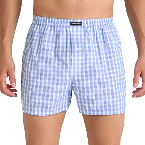 Lower East American Style Boxer Shorts, Multicolour Business), X-Large, Pack of 10