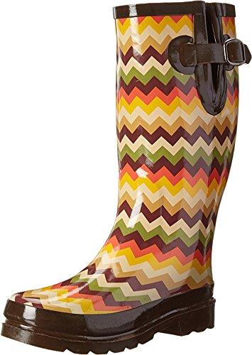 Blazin Roxx Women's Leanne Chevron Rain Boot Round Toe Multi 8 US